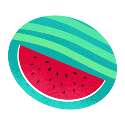 Sliced watermelon illustration