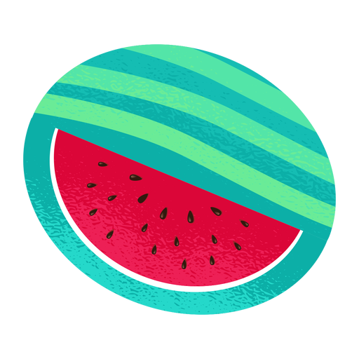 Sliced watermelon illustration
