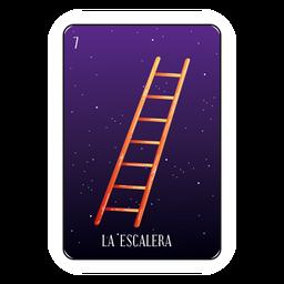 Cartão de loteria escada