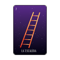 Staircase loteria card