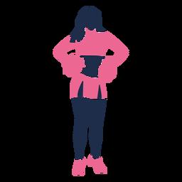 Standing cheerleader silhouette