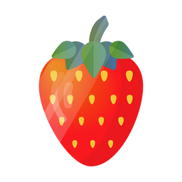 Strawberry cute illustration