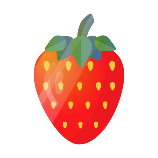 Strawberry cute illustration