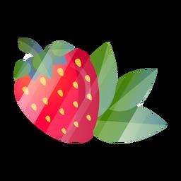 Erdbeere mit Blättern