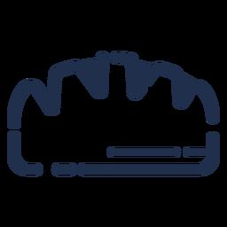 Taco simple icono