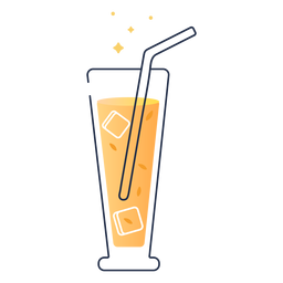 Tall glass juice
