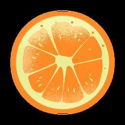 Top laranja texturizado