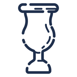 Icono de vidrio grueso