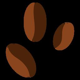 Três grãos de café