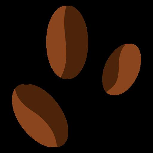 Tres granos de café Transparent PNG
