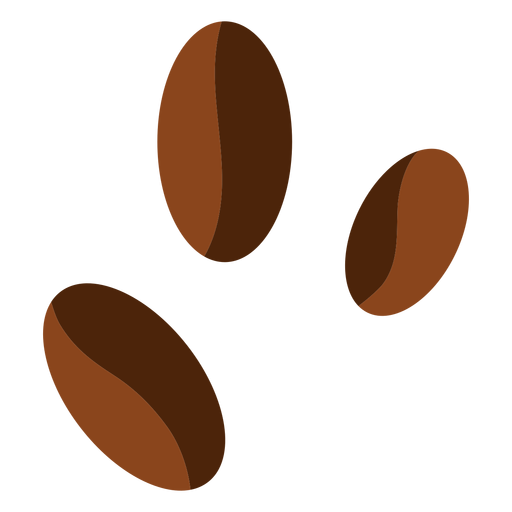 Tres granos de cafe Transparent PNG