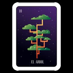 Cartão de loteria de árvore