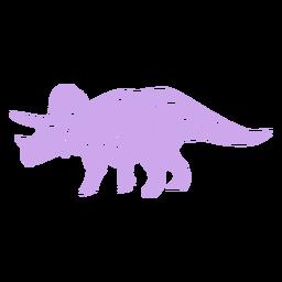 Lado da silhueta de triceratops