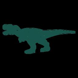 Lado de silhueta Tiranossauro