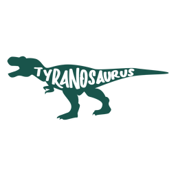 Tyranosaurus silhouette side