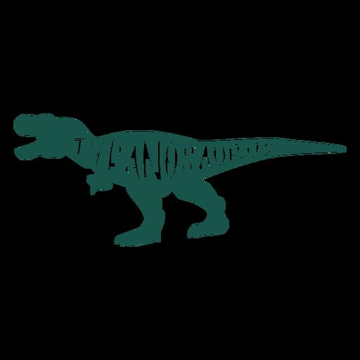 Tyranosaurus silhouette side Transparent PNG