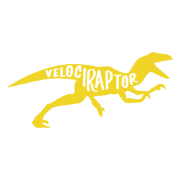 Lado da silhueta do Velociraptor