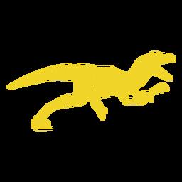 Velociraptor silueta lateral