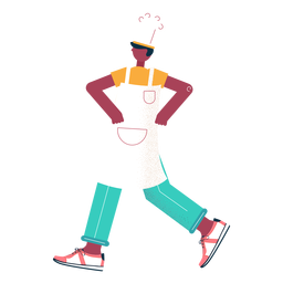 Walking chef character