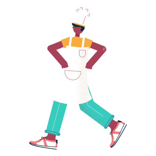 Walking chef character Transparent PNG