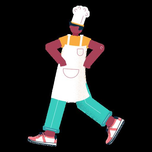 Walking chef character