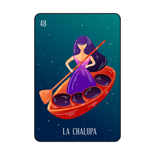 Woman in boat loteria card Transparent PNG
