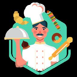 Elementos de carácter de chef de trabajo