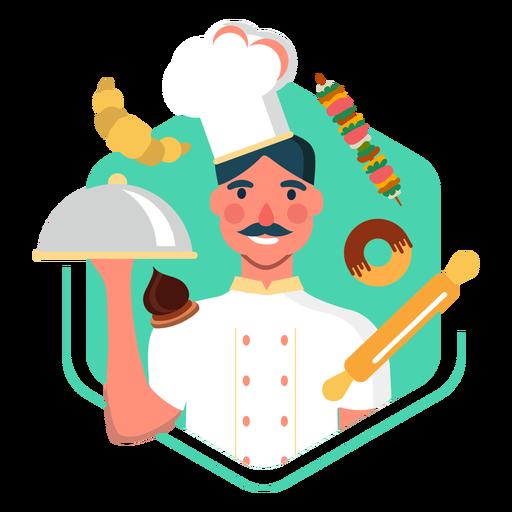 Elementos de carácter de chef de trabajo Transparent PNG