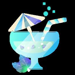 Yummy drink with umbrella