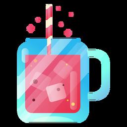 Ilustración de jugo delicioso