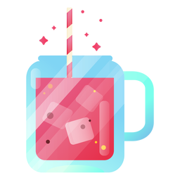 Yummy juice illustration