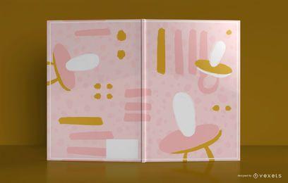 Design de capa de livro de bebê abstrata