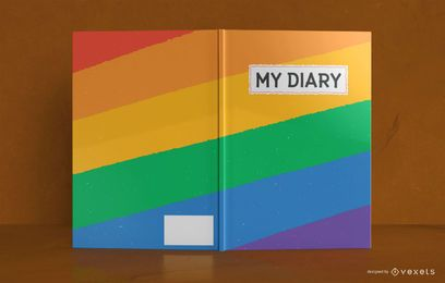 Rainbow Diary Book Cover Design