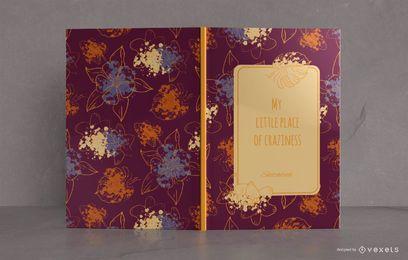Design floral da capa do livro de esboços