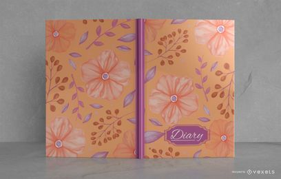 Floral Diary Illustrated Book Cover Design