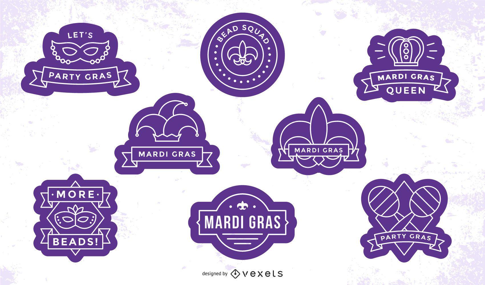 Conjunto de emblemas de carnaval