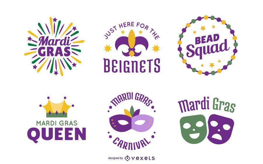 Mardi gras lettering pack