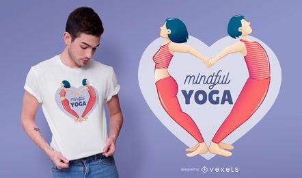 Design consciente do t-shirt da ioga