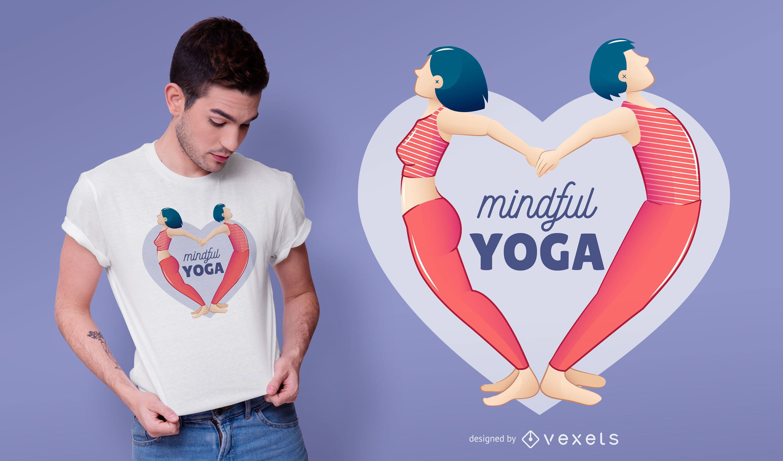 Design de camisetas para ioga consciente