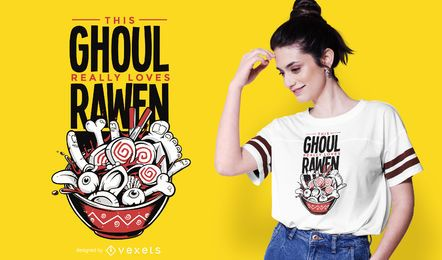 Diseño de camiseta Ghoul Ramen