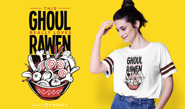Design de camisetas Ghoul Ramen
