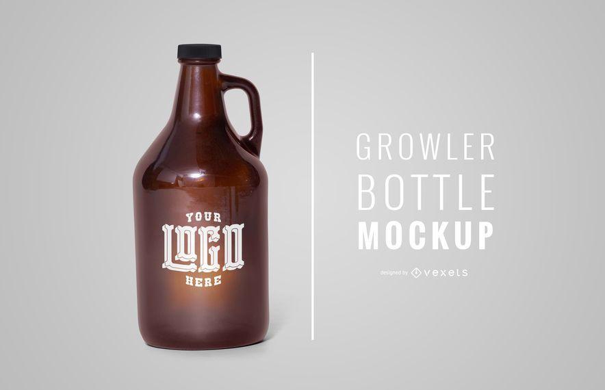 Growler bottle mockup design