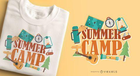 Diseño de camiseta de campamento de verano.