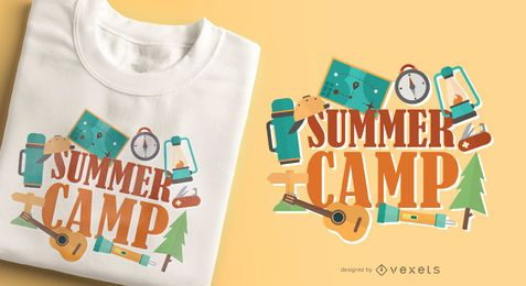 Summer camp t-shirt design