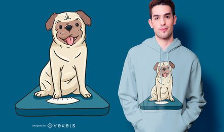 Design de camiseta de escala Pug