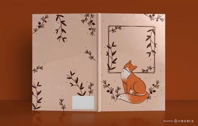 Design de capa de livro de jornal animal