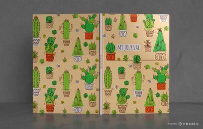 Design de capa de livro de cacto