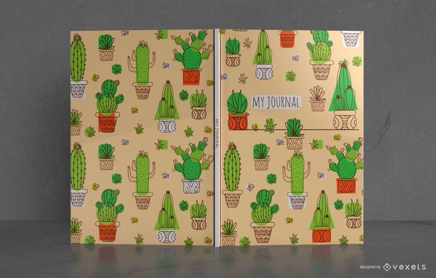 Diseño de portada de libro Cactus Journal