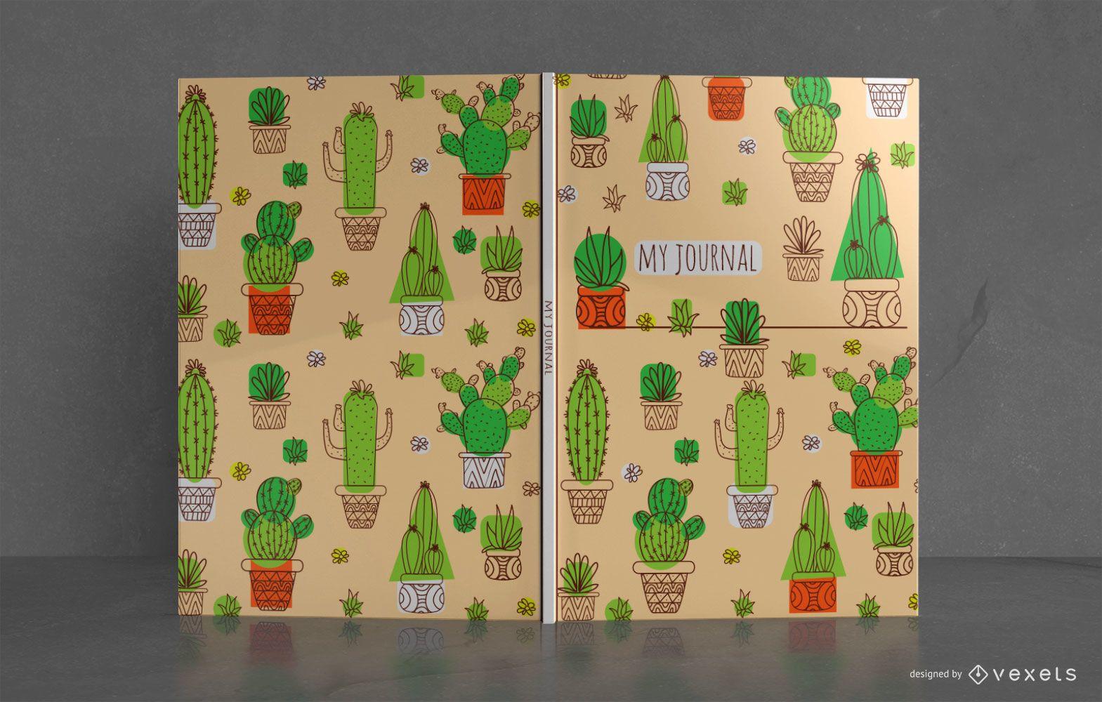 Design da capa do livro do Cactus Journal