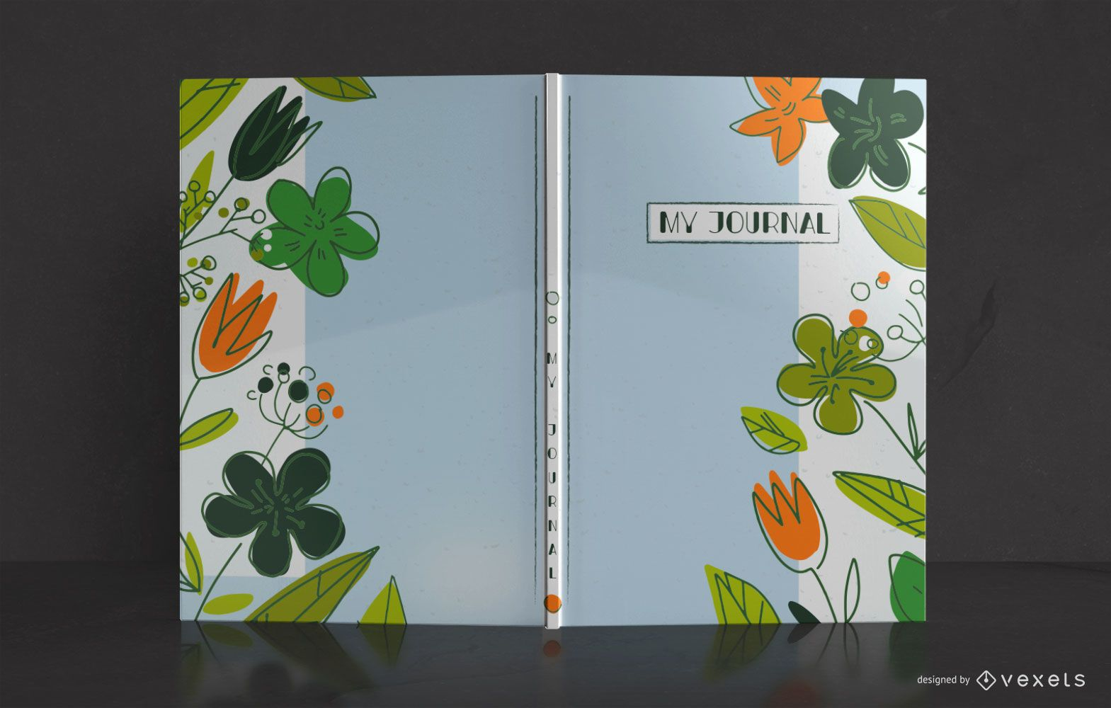 Nature Doodle Journal Book Cover Design